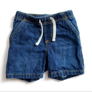 Old Navy Dark Denim Shorts Size 12-18 Months